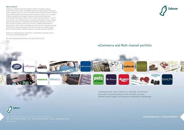 eCommerce and Multi-channel portfolio     Leading brands select Salmon to develop eCommerce and multi-channel solutions th...