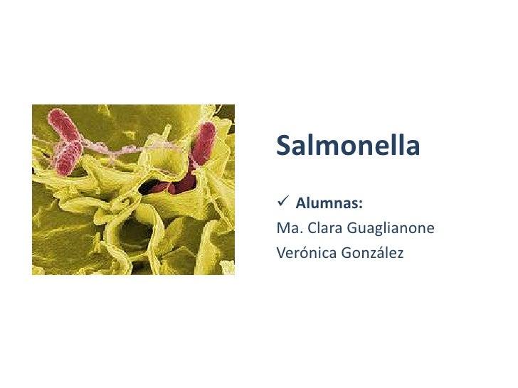 Salmonella  Alumnas: Ma. Clara Guaglianone Verónica González