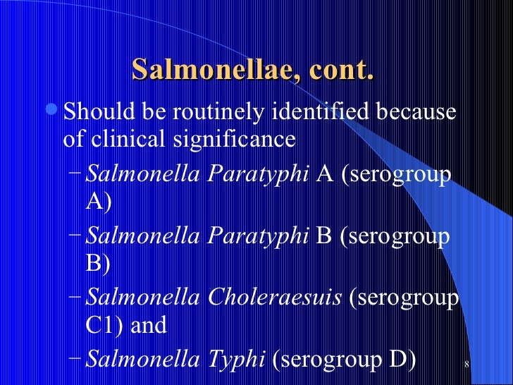 identifying salmonella choleraesuis Salmonella enterica (formerly salmonella choleraesuis) is a rod-shaped,  flagellate, facultative  experimental identification and characterization of 97  novel npcrna candidates in salmonella enterica serovar typhi nucleic acids  research.