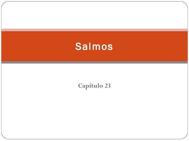 SalmosCapítulo 23