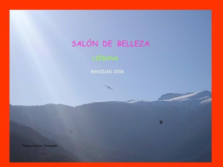 SALÓN  DE  BELLEZA LIÉBANA NAVIDAD 2006  Fotos y textos:: Fernando