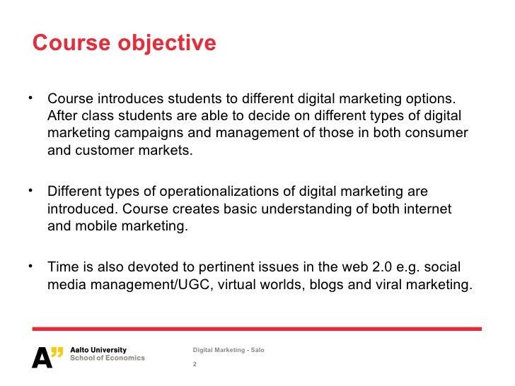 Salo Aalto University School of Economics Digital Marketing
