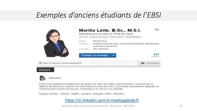 Exemples d'anciens étudiants de l'EBSI Crédit : Wikipedia.org. Comète Hall Bopp, 29 mars 199710 https://ch.linkedin.com/in...