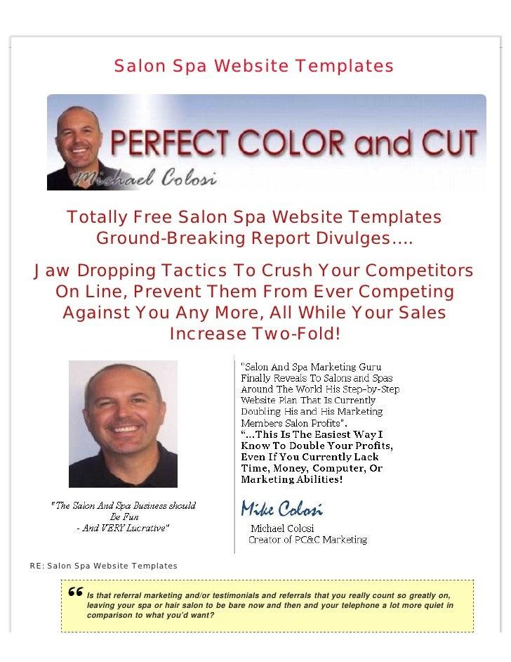 Salon Spa Website Templates            Totally Free Salon Spa Website Templates           Ground-Breaking Report Divulges…...