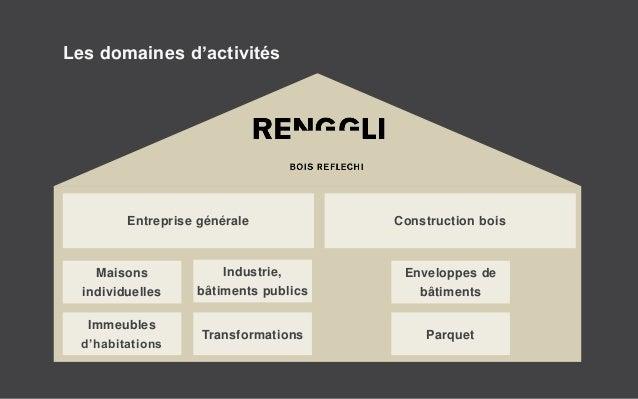 Les domaines d'activités Entreprise générale Construction bois Maisons individuelles Enveloppes de bâtiments Immeubles d'h...