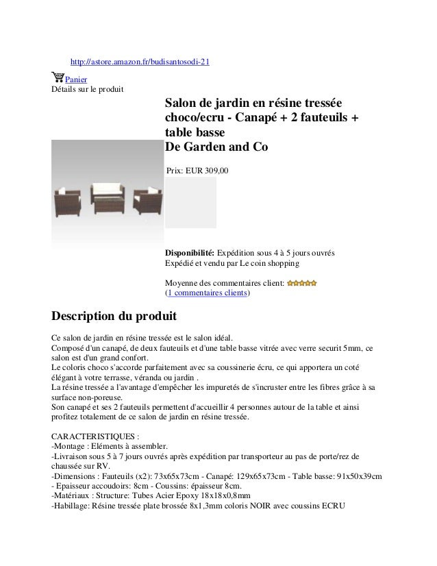 http://astore.amazon.fr/budisantosodi-21PanierDétails sur le produitSalon de jardin en résine tresséechoco/ecru - Canapé +...