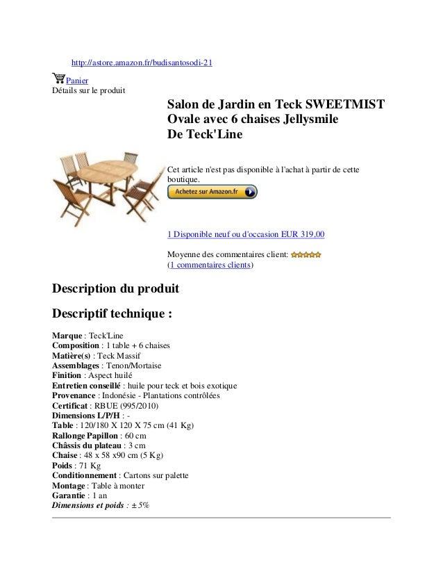http://astore.amazon.fr/budisantosodi-21PanierDétails sur le produitSalon de Jardin en Teck SWEETMISTOvale avec 6 chaises ...