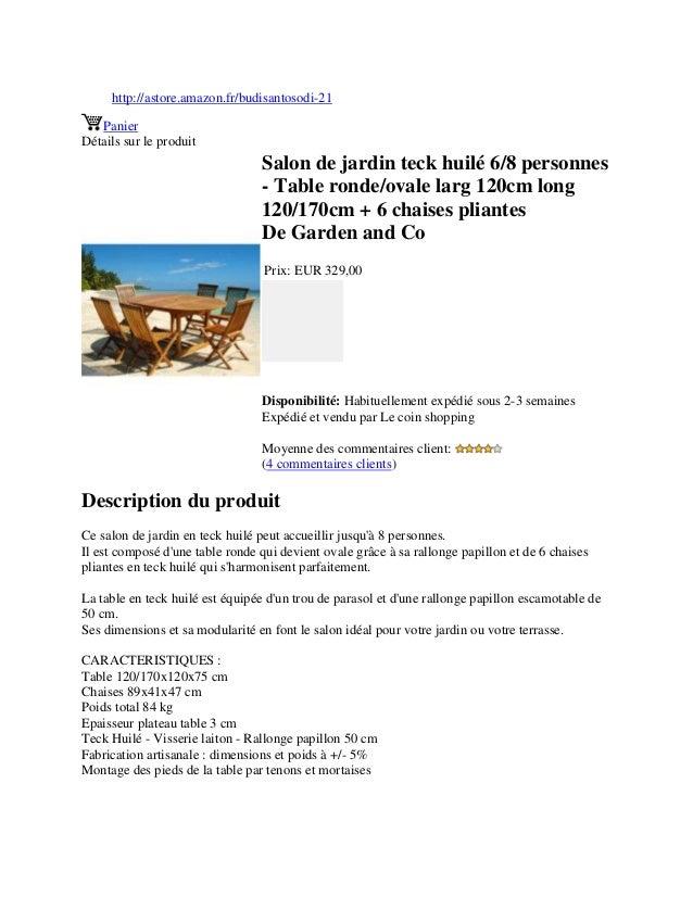 Larg Jardin 6 Personnes 12… Ovale Huilé Ronde Teck 8 Table Salon De BWQrxoedC
