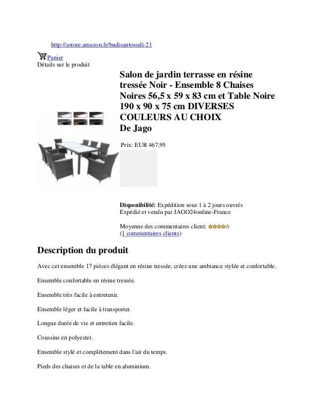 http://astore.amazon.fr/budisantosodi-21PanierDétails sur le produitSalon de jardin terrasse en résinetressée Noir - Ensem...