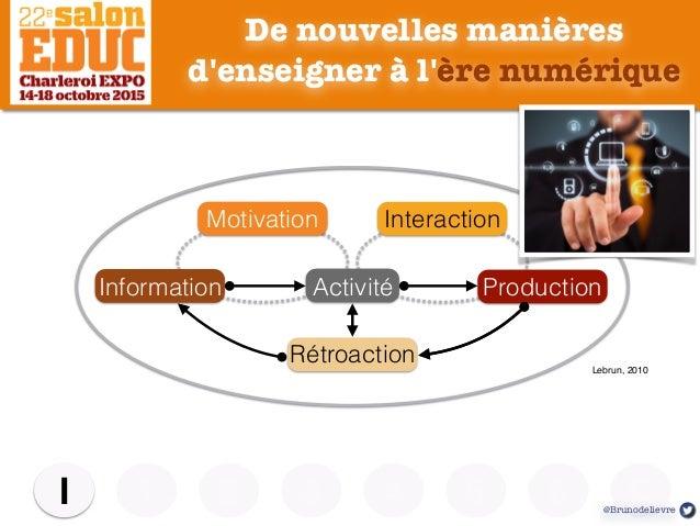 De nouvelles manières d'enseigner à l'ère numérique 1 2 3 4 5I C6 Contexte Information Activité Production Motivation Inte...