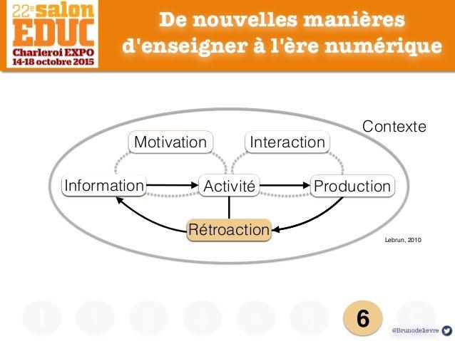 De nouvelles manières d'enseigner à l'ère numérique I Lebrun, 2010 Contexte MotivationMotivation InteractionInteraction Pr...
