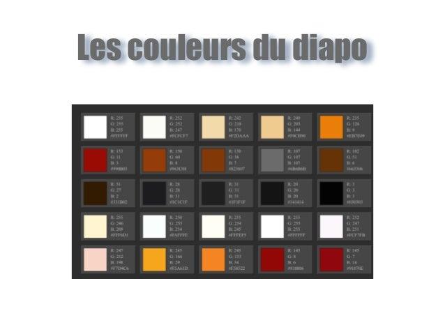 Les couleurs du diapo