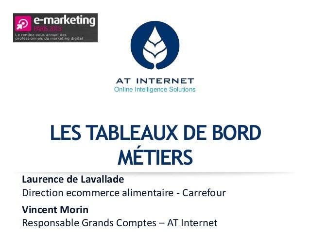 Online Intelligence Solutions     LES TABLEAUX DE BORD            MÉTIERSLaurence de LavalladeDirection ecommerce alimenta...