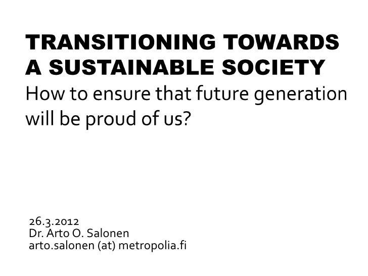 26.3.2012Dr. Arto O. Salonenarto.salonen (at) metropolia.fi