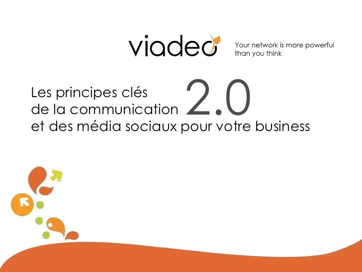 Les principes clésde la communication   2.0et des média sociaux pour votre business
