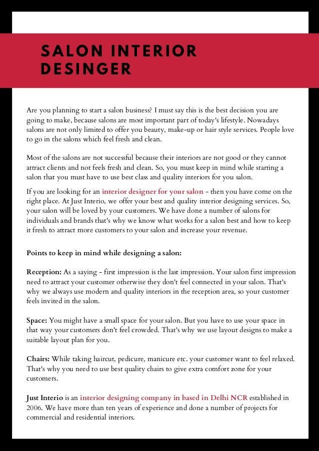 Salon Interior Designer In Delhi Ncr