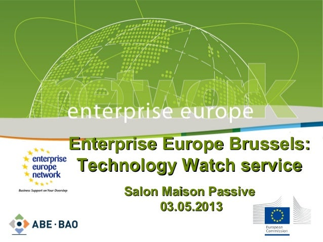 Salon maison passive enterprise europe brussels technology watch - Salon maison passive 2017 ...
