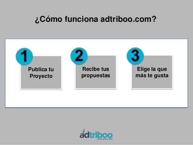 Ventajas de adtriboo.com  CREATIVO Nuevos clientes Acceso a un gran número de proyectos Sin fronteras Feedback directo...