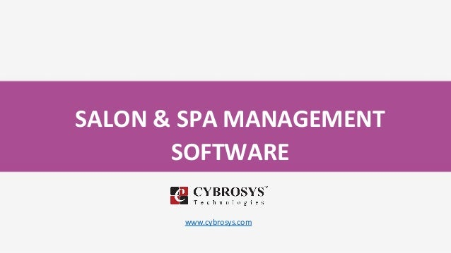 SALON & SPA MANAGEMENT SOFTWARE www.cybrosys.com