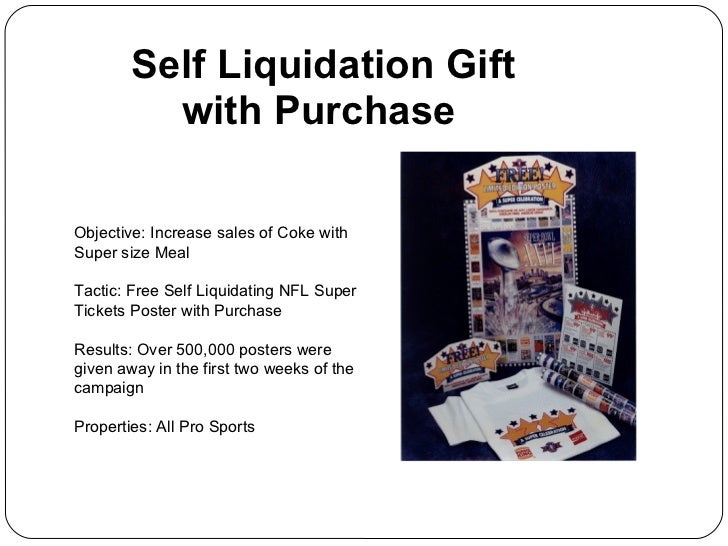 Self liquidating offer examples