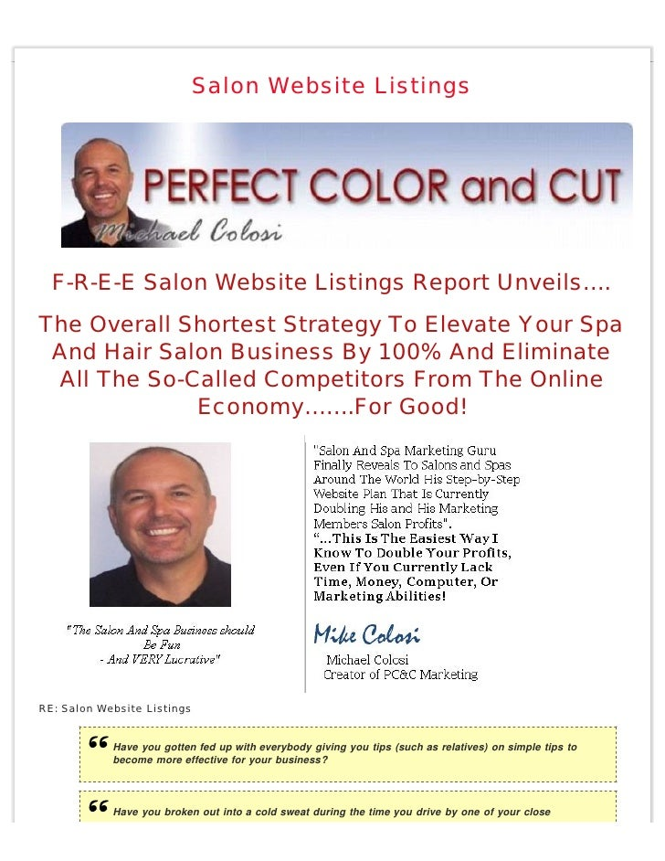 Salon Website Listings       F-R-E-E Salon Website Listings Report Unveils…. The Overall Shortest Strategy To Elevate Your...