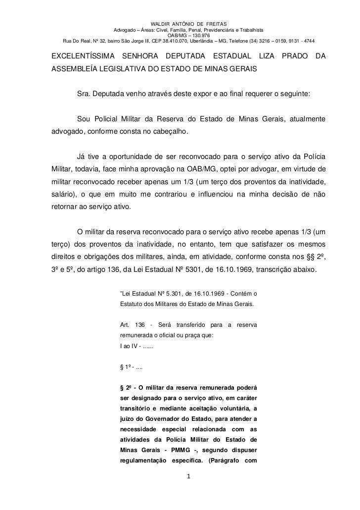 WALDIR ANTÔNIO DE FREITAS                          Advogado – Áreas: Cível, Família, Penal, Previdenciária e Trabalhista  ...