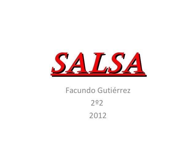 SalSaSalSa Facundo Gutiérrez 2º2 2012