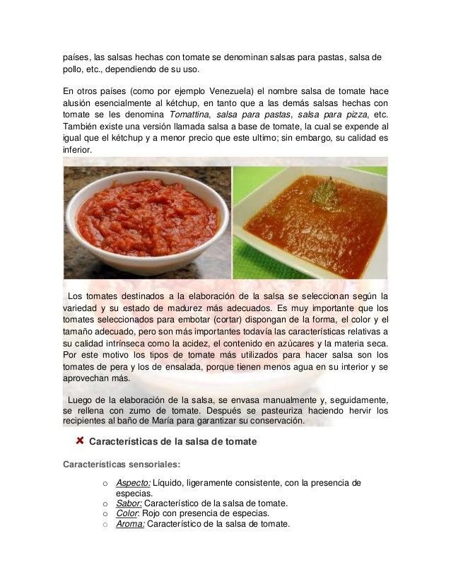 Salsa de tomate - Como se hace pollo en salsa ...