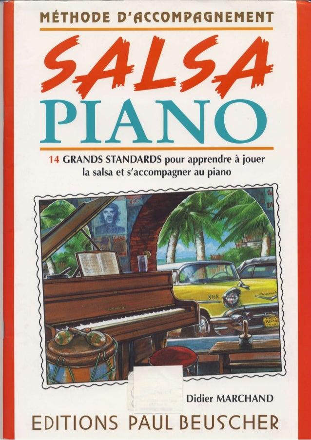 ME TIIO DE D' fi CCOMP frG1 {E ME ]IT  14 CRANDSS TANDARDpSo ura pprendràe jouer  la salsae t s'accompagnaeur piano  Didie...