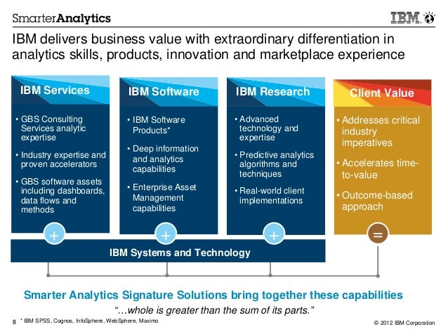 Ibm smarter analytics case studies