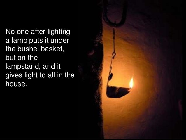 Salt and light matthew 513 20 for Light a lamp and put it under a basket