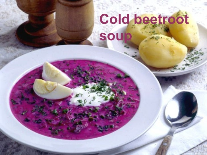 Cold beetrootsoup