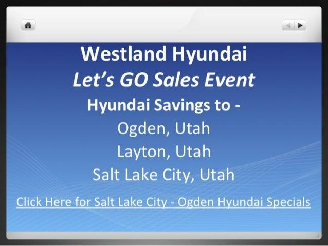 Salt Lake City Hyundai Specials -  Westland Hyundai