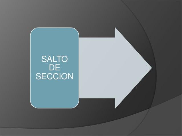 SALTO DE SECCION