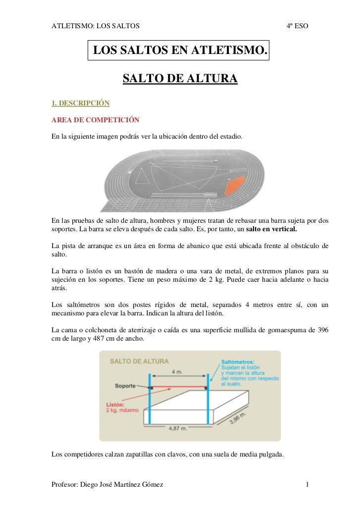 ATLETISMO: LOS SALTOS                                                            4º ESO                 LOS SALTOS EN ATLE...