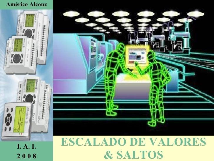 ESCALADO DE VALORES & SALTOS Américo Alconz I. A. I. 2 0 0 8