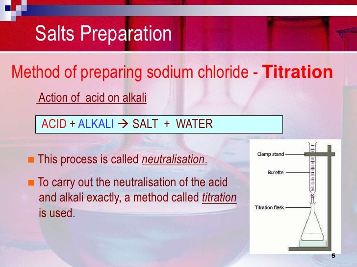 preparing sodium chloride Standard preparation final working standard conc (ppm) vol flask volume (ml) volume of stock to add (ml) cl stock conc: 5000 ppm stock recipe: 82425g sodium chloride per 1000 ml po4-p stock conc: 100 ppm stock recipe: 02199g potassium phosphate, monobasic per 500 ml.