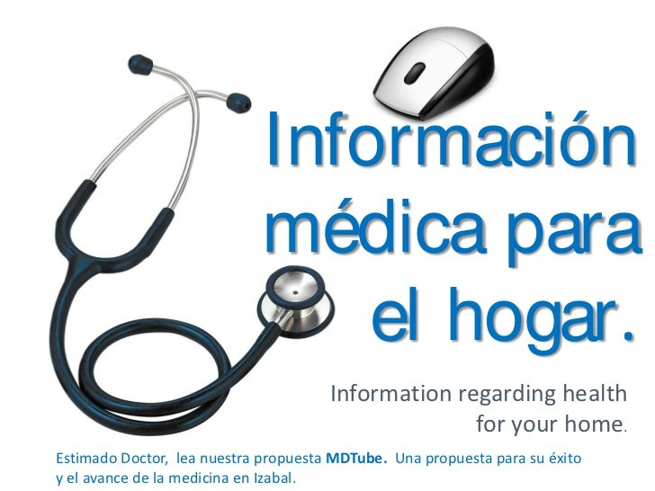 Información                            médica para                      información médica para el hogar                  ...