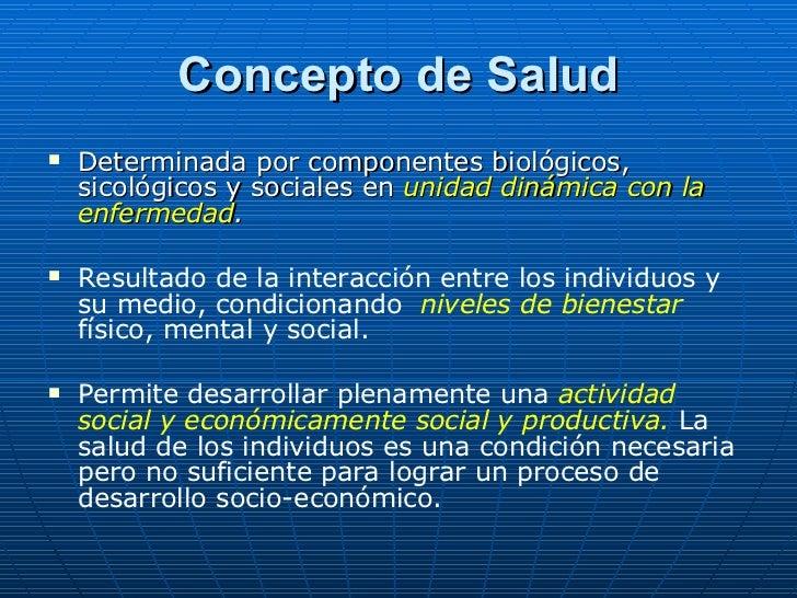 Salud y Enfermedad. Determinantes de salud. Noción de Riesgo. Slide 3