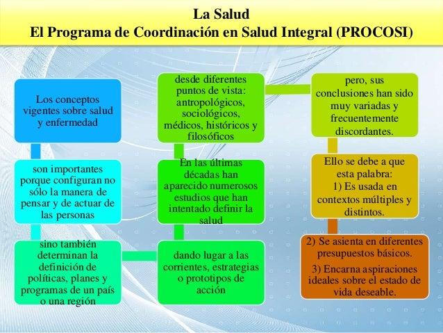 Salud integral for Programa de cocina de la 1