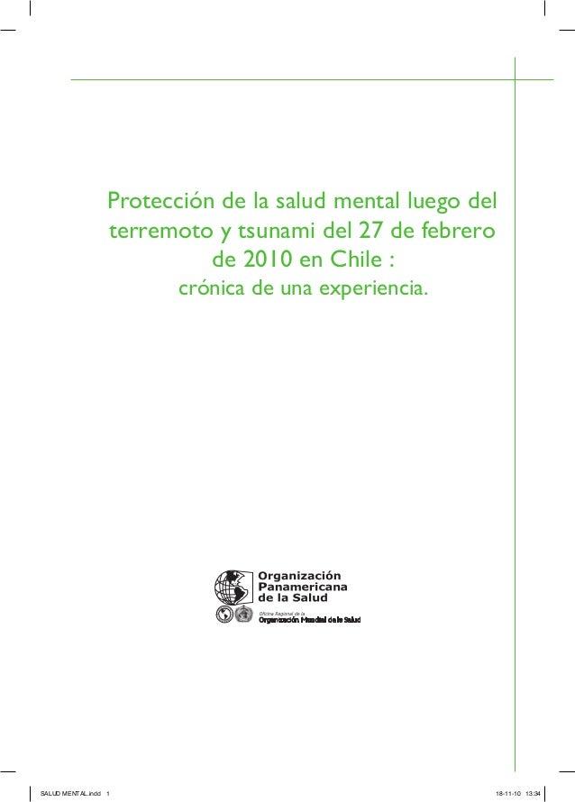 """""""Protección de la salud mental luego del terremoto y tsunami del 27 de febrero de 2010 en chile: Crónica de una experiencia"""". Slide 2"""
