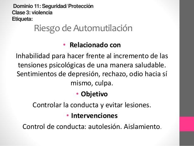 Dominio9 :Afrontamiento/ toleranciaal estrés clase 2: Respuestas de afrontamiento Etiqueta: Afrontamiento inefectivo • Rel...