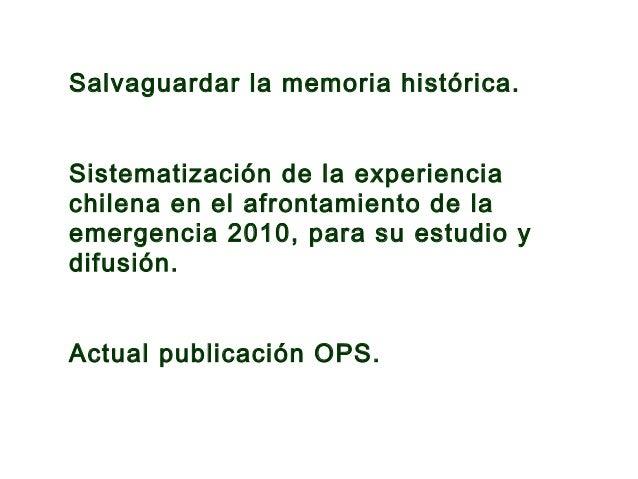 Establecimiento de atención primaria. Servicio de Salud Talcahuano. Región del Bio Bio