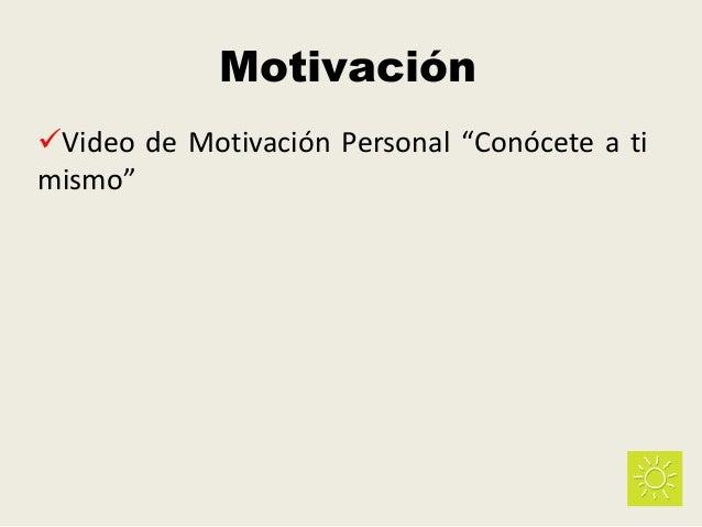 """Motivación Video de Motivación Personal """"Conócete a ti mismo"""""""