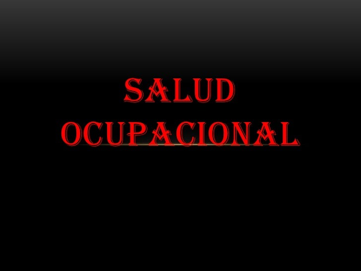 SALUDOCUPACIONAL