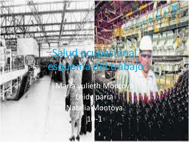 Salud ocupacionalesquema del trabajo María yulieth Montoya      Leidy parra   Natalia Montoya          10-1