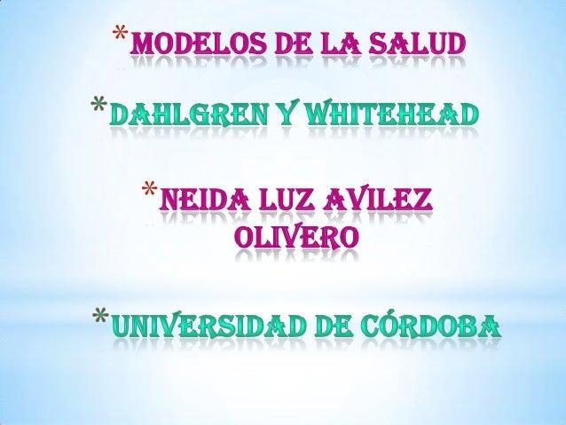 *Modelos de la Salud  *Neida Luz Avilez olivero