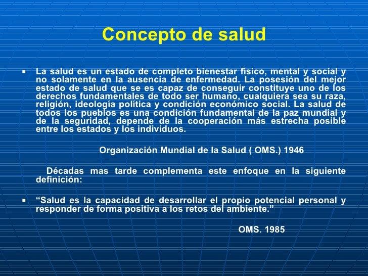 Salud Y Enfermedad  Determinantes De Salud  NocióN De Riesgo Slide 3