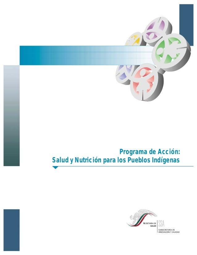 Programa de Acción:Salud y Nutrición para los Pueblos Indígenas