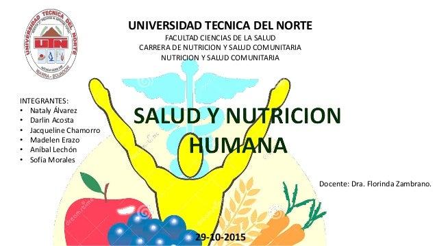 Salud y nutricion humana